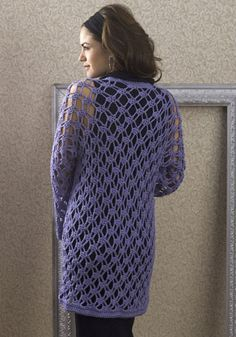 Free Crochet Zen Jacket Pattern : NaturallyCaron.com :: Zen Jacket Crochet Apparel ...