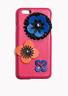 & Other Stories Leather Flower iPhone 6 Case  in Pink