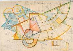 """architectural-review: """" An 'artist whose profession is architecture', captures 16 buildings' dynamic in space, emphasising the importance of hand drawings in a creative process which is becoming ever more software-based 'Hand drawings help to..."""