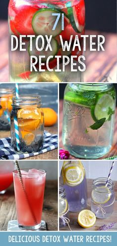 So we have collected a huge list of 71 amazing and healthy, detox water recipes for you, to help you enjoy drinking flavour packed water without any sugary extras or reaching for an unhealthy soda. #weightlossmotivation