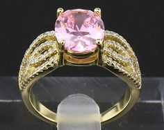 #jewelry Antique Natural Pink Diamond Ring 4.20ct In 14kt Solid Yellow Gold Size8 please retweet