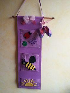 Portaoggetti in feltro e pannolenci completo di scarpette neonato : Mobili e contenitori di idee-artigianali-77-chabetty