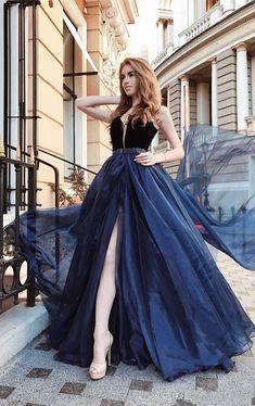 17 Mejores Imágenes De Vestido Azul Marino Vestidos Azules