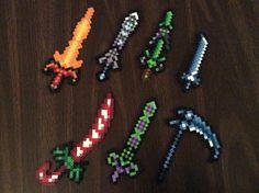 Swords (terraria perler) by VoreDrone.deviantart.com on @DeviantArt