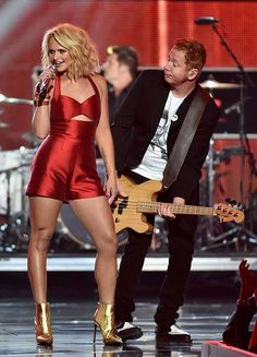 #MirandaLambert ♡ ♡ ♡  At the fashion rocks show last night performing #LittleRedWagon off of her newest album #Platinum 9/10/14 She's not only a beautiful person but an awesome artist.. The best female in the business!!