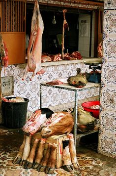 Butchers (not for the squemish!) in Tinerhir, Morocco | Flickr