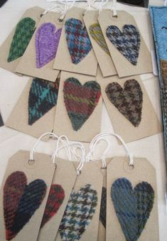 Tweed thoughts ...: Craft Fair Update :) Tartan Crafts, Christmas Crafts, Sewing Crafts, Sewing Projects, Craft Projects, Craft Stalls, Arts And Crafts, Paper Crafts, Handmade Tags