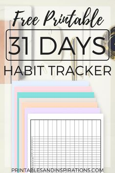 habit tracker free printable, monthly tracker, use as an expense tracker, add to your budget binder or teacher binder, daily checklist