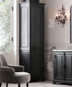 RH Source Books - French casement vanity and casement bath cabinet