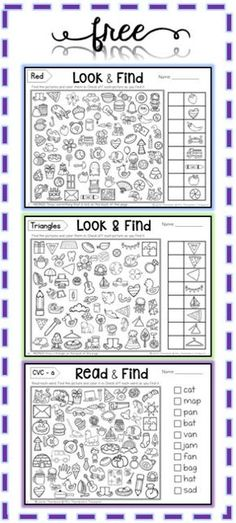 Free Hidden Picture Activities - Mrs. Thompson's Treasures
