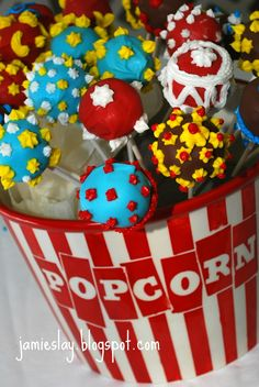 It's All In the Details: Vintage Circus Shower cake pops