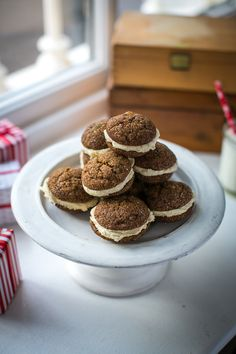 Chewy Gingerbread Sandwich Cookies...The perfect Christmas cookie! | DonalSkehan.com