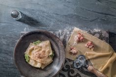 Ravioli di baccalà con crema di broccoli