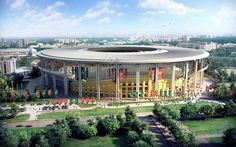 Stadium Projects For The World Cup In Russia 2018.  EKATERINBURG (44.000)  These stadium projects were taken from the presentation of Russia's bid to hold the 2018 World Cup.