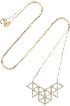 Lito Izel 14-karat gold diamond necklace | NET-A-PORTER