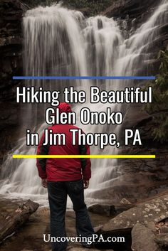 Hiking Glen Onoko Falls in Jim Thorpe, Pennsylvania is one of the state's most amazing hikes. However, precautions are necessary. Here's the truth behind this amazing hike. Monteverde, Weekend Trips, Day Trips, Camping In Pennsylvania, Jim Thorpe Pennsylvania, Places To Travel, Places To See, Travel Destinations, Thorpe Park