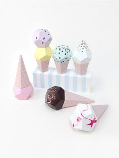 Moon Picnic – Paper Ice Creams / perfect for decorating an ice cream party