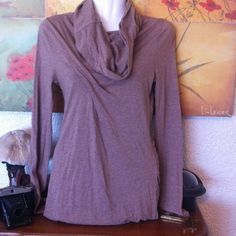 """ANTHROPOLOGIE """"Lilka"""" Cowlneck Tunic NWOT!!! Long sleeves. Jersey knit. Draped. Ruched side. Pima cotton/modal blend. The cowlneck is long enough to pull it up over the head:) <3. Anthropologie Tops Tunics"""