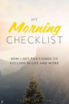 My Morning Checklist for 2016