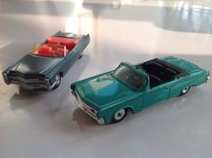 Two Cragstan Sabra Detroit Senior cars, 1/44 made in israel between 67 & 72 cadillac and imperial chrysler