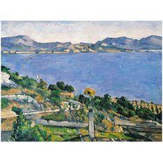 Trademark Fine Art The Little Bridge 1879 inch Canvas Art by Paul Cezanne, Size: 26 x 32, Multicolor