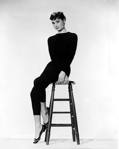 Audrey Hepburn photoshoot for her film, Funny Face, 1957