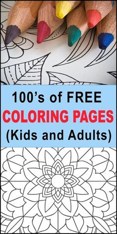 Coloring Pages for Kids and Adults (Free Printable Patterns) Mandala Coloring Pages, Coloring Pages For Kids, Coloring Books, Free Stencil Maker, Free Stencils, Christmas Tree Stencil, For Elise, Projects For Kids, Diy Projects