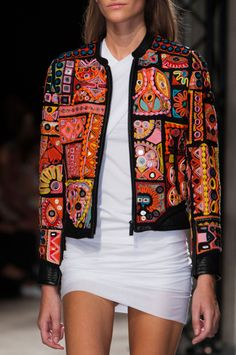 View all the detailed photos of the Barbara Bui spring / summer 2015 showing at Paris fashion week. Read the article to see the full gallery. Indian Fashion, Boho Fashion, Autumn Fashion, Fashion Dresses, Womens Fashion, Paris Fashion, Outfit Essentials, Embroidered Clothes, Embroidered Jacket