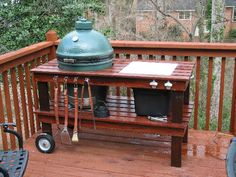 BGE table. I like the stain color. Ceramic Cooker Table Gallery -- The Naked Whiz's Ceramic Charcoal Cooking