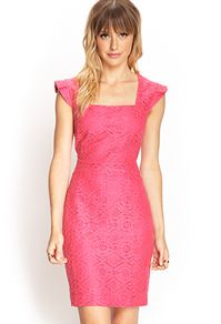 Textured Lace Shealth Dress