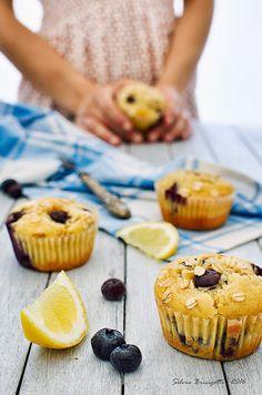 Mi piace e non mi piace: Muffins alla Banana, Mirtilli e Limone con Farina ...