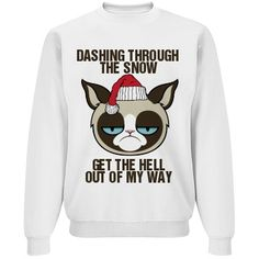 A Grumpy Cat Sleigh Ride Crewneck Sweatshirt