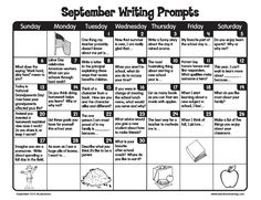 Get your kids excited for the upcoming school year with our September writing prompts!