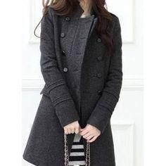 casaco de la batido feminino cinza 1