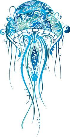 Buddha Zentangle ink drawing by Nance Aurand-Humpf. Zentangle Patterns, Zentangles, Tattoo Patterns, Fish Zentangle, Jellyfish Tattoo, Blue Jellyfish, Watercolor Jellyfish, Jellyfish Sting, Octopus
