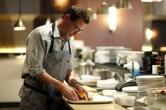 Chef John Tesar, chef and owner in the kitchen at Knife in Dallas. (Lara Solt/For Washington Post)