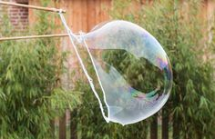 RIESEN-SEIFENBLASEN SELBER MACHEN - Do It Yourself, Inspirationen - Baby, Kind und Meer Bubble Party, Hydrangea Care, Types Of Fish, Baby Gym, Soap Bubbles, Outdoor Learning, Made In France, Creative Kids, Diy Crafts For Kids