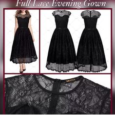 This is a beautiful full lace evening dress. It is made from nylon with a floral pattern. The dress is a full length with a scoop neck. It has short sleeves and is available in sizes small to extra-large.   Small = 4 - 6  Medium = 8  Large = 10 - 12  XLarge = 14    **This item ships within seven (7) days. | Shop this product here: http://spreesy.com/UyleesBoutique/126 | Shop all of our products at http://spreesy.com/UyleesBoutique    | Pinterest selling powered by Spreesy.com