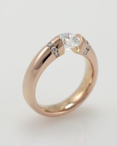 Gelin Abaci rose gold and diamond tension ring