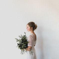 Wedding bouquet inspiration, all greens.