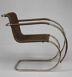 """Silla """"MR"""", Ludwig Mies van der Rohe, 1927, Met Museum"""