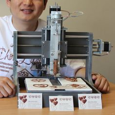 3D Chocolate Printer #3dPrintedFood