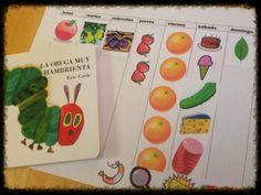 31 Days of Spanish Books for Kids-La Oruga Muy Hambrienta with free printable