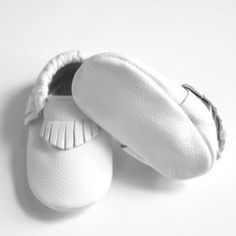 White Fringe Boys Baptism Wedding infant one 1st Birthday photography  invitation ideas infant Moccasin crib shoes