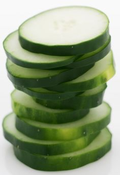Cucumbers are loaded with water and naturally low in calories to help with hydration and weight management. One whole cucumber has just 45 calories. If you are feeling bloated, cucumbers can help with that too.