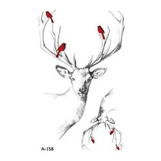 Wyuen Hot Designs Deer Temporary Tattoo For Women Tattoo Body Art Waterproof Hand Fake Tatoo Sticker Elk Animal Deer Skull Tattoos, Deer Tattoo, Fake Tattoos, Body Art Tattoos, Tatoos, Geometric Sleeve Tattoo, Geometric Tattoo Design, Geometric Tattoos, Tattoo Designs For Women