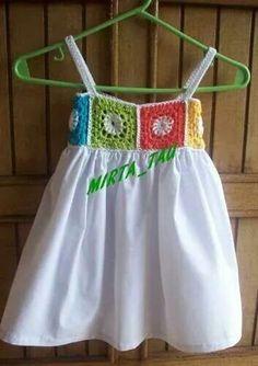 Fabulous Crochet a Little Black Crochet Dress Ideas. Georgeous Crochet a Little Black Crochet Dress Ideas. Crochet Dress Girl, Crochet Girls, Crochet Baby Clothes, Crochet For Kids, Crochet Ideas, Crochet Yoke, Crochet Fabric, Toddler Dress, Baby Dress