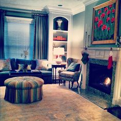 Our formal living room inside the Alpha Chi Mansion at the University of Tennessee Knoxville!