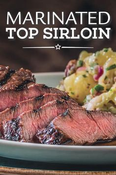 Marinate a top sirloin steak with this quick and easy steak marinade with herbs then grill it to perfection. Grilling Sirloin Steak, Steak On Gas Grill, Sirloin Steaks, Steak Marinade Best, Sirloin Tip Roast, How To Marinate Steak, Beef Steak Marinade, Roast Brisket, Beef Tenderloin