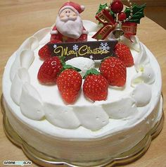 Japanese Christmas Cake, a little Early | Strawberry cream cakes ...
